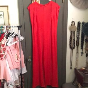 Zara red knit jumpsuit